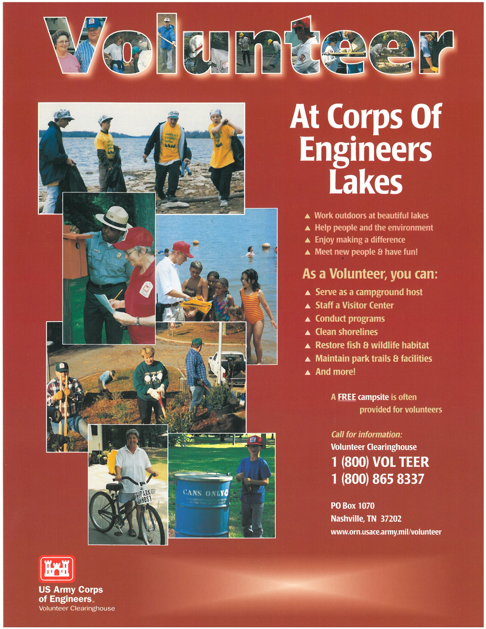 Poster design volunteer - Posters To Help Recruit Volunteers May Be Ordered By E Mailing Volunteer Clearinghouse Usace Army Mil Sizes 8 X 11 11 X17 And 18 X24